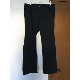 ニッセン - 美品 ニッセン すごく伸びる綿混セミフレアパンツ ブラック76