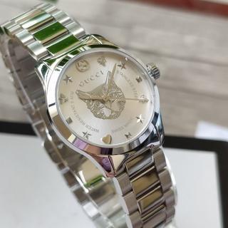 Gucci - グッチ 腕時計 女性用 シルバー 箱付き