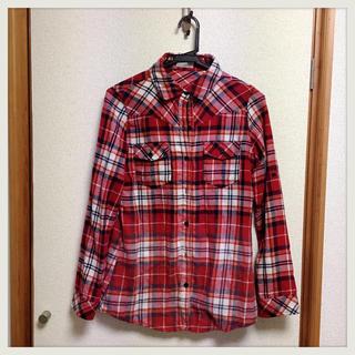 Fun 赤チェックシャツ (シャツ/ブラウス(長袖/七分))