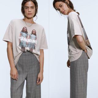 ZARA - 新品タグ付きZARA ザラ シャイニング TシャツM ベージュ