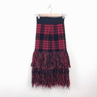 美品 Bluebell ブルーベル ロングスカート 赤 人気 定番 カジュアル