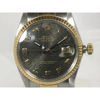 ロレックス(ROLEX)のロレックス デイトジャスト ホリコン ブラック コンビ 16013(腕時計(アナログ))
