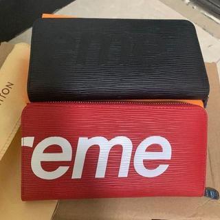 Supreme - 2つ Supreme 長財布 美品 ブラック、赤色 ss