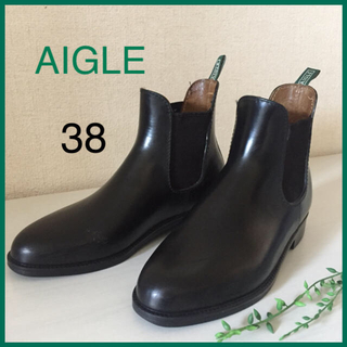 AIGLE - AIGLE エーグル サイドゴアラバーブーツ レインブーツ 24.0cm