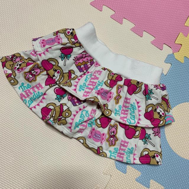 EARTHMAGIC(アースマジック)のアースマジック  キャンディーマフィー 総柄スカパン キッズ/ベビー/マタニティのキッズ服 女の子用(90cm~)(スカート)の商品写真