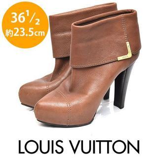 LOUIS VUITTON - ルイヴィトン メタルロゴ 折り返し ショートブーツ 36 1/2(約23.5cm