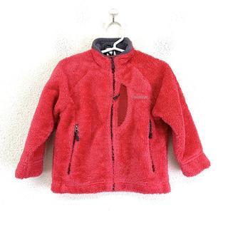 mont bell - 美品 モンベル キッズ クリマエア フリースジャケット ショッキングピンク ロゴ