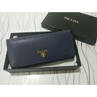 PRADA - お勧めPrada プラダ 長財布 ブルー レディース
