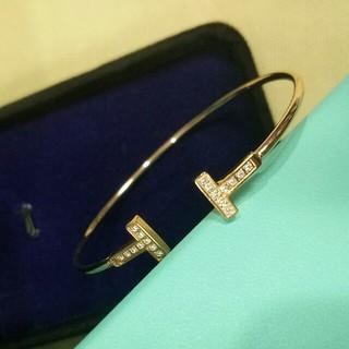 Tiffany & Co. - 超美品Tiffany &Co. バングル レディース 新品 箱付き 刻印