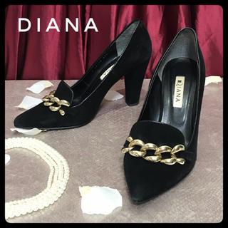 DIANA - 【DIANA】ダイアナ 23.5cm パンプス ヒール レディース 黒 スエード