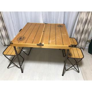 Coleman - ウッド ピクニックテーブル セット キャンプ コールマン アウトドア