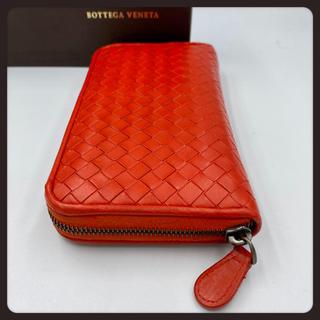 Bottega Veneta - 新タグ【美品】ボッテガヴェネタ/長財布/ラウンドジップ/レッド