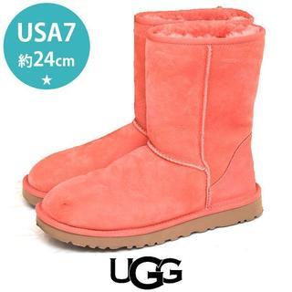 アグ(UGG)の美品❤️アグ ショート ムートンブーツ US7(約24cm)(ブーツ)