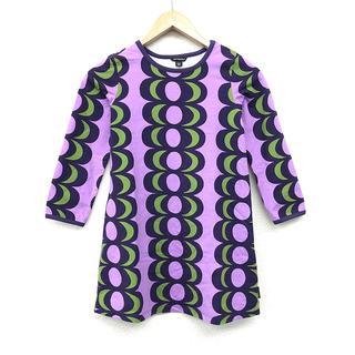 marimekko - Marimekko マリメッコ キッズ ワンピース 122/7Y 紫 おしゃれ