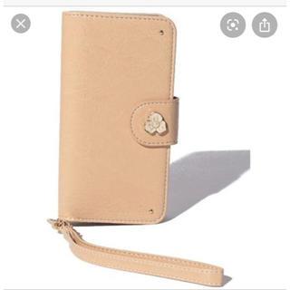 アフタヌーンティー(AfternoonTea)のアフタヌーンティー iPhone8ケース ヌメ革レザー調かわいい 新品 パール(iPhoneケース)