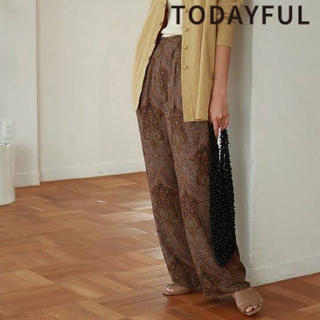 TODAYFUL - todayful ペイズリー パンツ