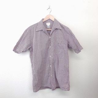 BEAMS - 美品 BEAMS ビームス メンズ シャツ 半袖 チェック コットン 綿 L 赤