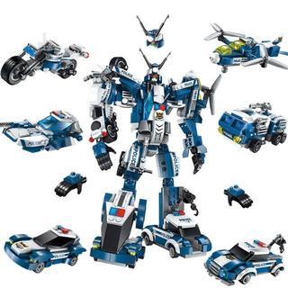 Lego - 警察 ロボット ブロックキット おもちゃ