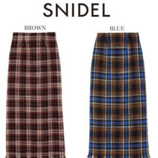 snidel - SNIDEL スナイデル ウールロービングチェックタイトスカート