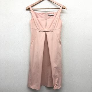 FOXEY - 美品 美品 レディース ワンピース ノースリーブ ひざ丈 胸元リボン