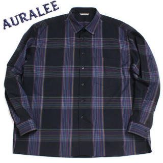 COMOLI - 最終値下げ AURALEE SUPER LIGHT WOOL CHECK