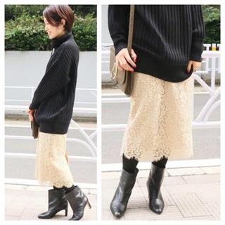 IENA - 【新品タグ付】IENA 《追加》レースタイトスカート