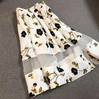 FRAY I.D - フレイアイディー  花柄 シースルー  スカート