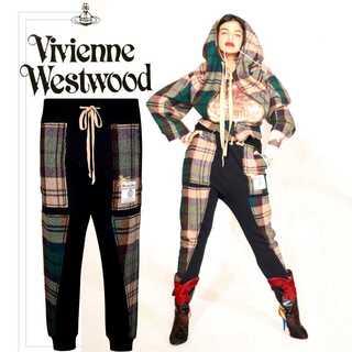 Vivienne Westwood - 美品 18AW ヴィヴィアンウエストウッド ハリスツイード パッチワーク パンツ