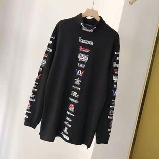 バレンシアガ(Balenciaga)のバレンシアガ マルチロゴリストハイネックTシャツ(Tシャツ/カットソー(七分/長袖))