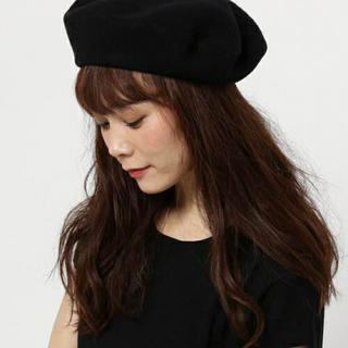 エディション(Edition)のedition別注 キジマタカユキ 圧縮ウール ベレー帽 黒(ハンチング/ベレー帽)