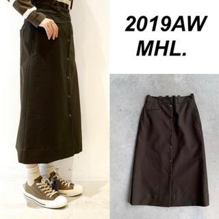 MARGARET HOWELL - 2019新作 フロントボタンスカート MHL 今季