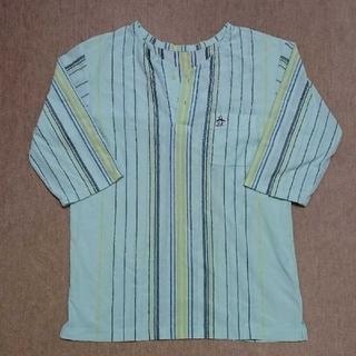 ミズノ(MIZUNO)のMunsingwear ストライプ 七分袖Tシャツ Lサイズ  ペンギンマーク(シャツ)