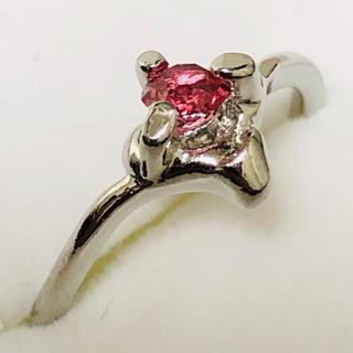 Pt900 ピンク石のリング(リング(指輪))
