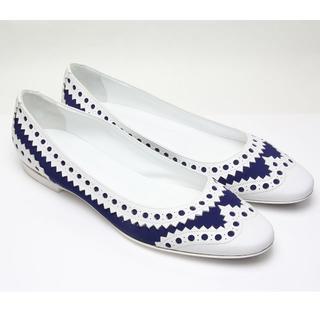 エルメス(Hermes)の未使用 エルメス ウイングチップ フラット パンプス メダリオン フルブローグ (ローファー/革靴)