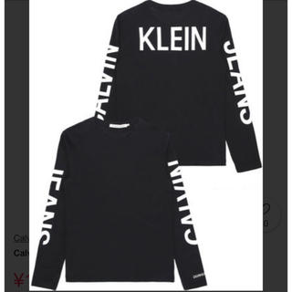 Calvin Klein - 新品タグ付き カルバンクライン ジーンズ ロンT ブラック 黒 サイズS