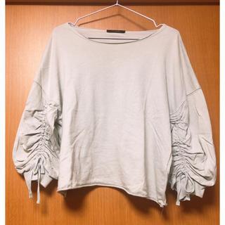 ダブルクローゼット(w closet)のwcloset ドロストスリーブT  ライトブルー(Tシャツ(長袖/七分))