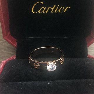 カルティエ(Cartier)のカルティエ ラブリングピンクゴールド1p(リング(指輪))