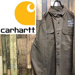carhartt - 【激レア】カーハート☆刺繍ロゴ・ロゴタグ入りダブルポケットワークシャツ