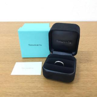 ティファニー(Tiffany & Co.)の美品 ティファニー ミルグレインバンドリング Pt950 指輪 ☆カルティエ(リング(指輪))