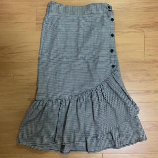ウィゴー(WEGO)のチェック アシンメトリー スカート(ロングスカート)