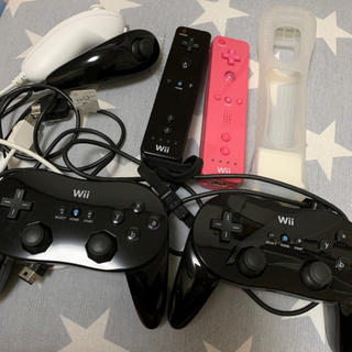 Wii - 【中古】Wiiリモコン&コントローラー等 6点セット
