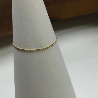 K18  喜平 チェーンリング 18金 イエローゴールド 極細リング 指輪(リング(指輪))