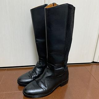 ザラキッズ(ZARA KIDS)のZARA レザー  スウェード 切替 ロング ブーツ 20 キッズ 防寒 定番(ブーツ)