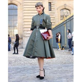 クリスチャンディオール(Christian Dior)の超レア 新品 DIOR MA-1ドレスコート 38 (ロングコート)
