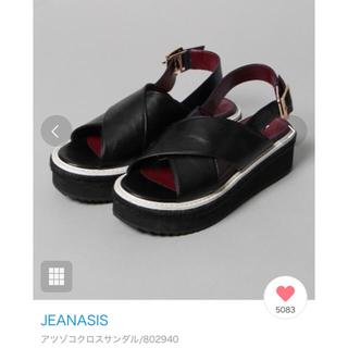 JEANASIS - JEANASIS  厚底クロスサンダル 6000円!