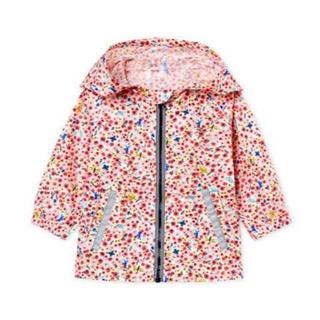 プチバトー(PETIT BATEAU)の☆SALE☆プチバトー フラワープリントフード付きジャケット(ジャケット/コート)