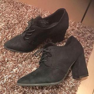 DIANA - 秋冬 スウェード 靴 チャンキーヒール