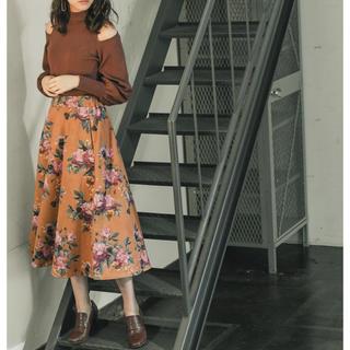 Andemiu - 【WEB限定】フェイクスエードフラワースカート 定価7920円