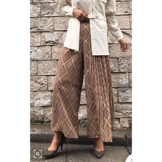 Ameri VINTAGE - 今期 AMERI MAGGIE PORTION PLEATS PANTS