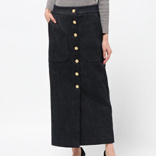 SHIPS - harvey faircloth デニムスカート 金ボタン
